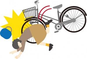 自転車こける